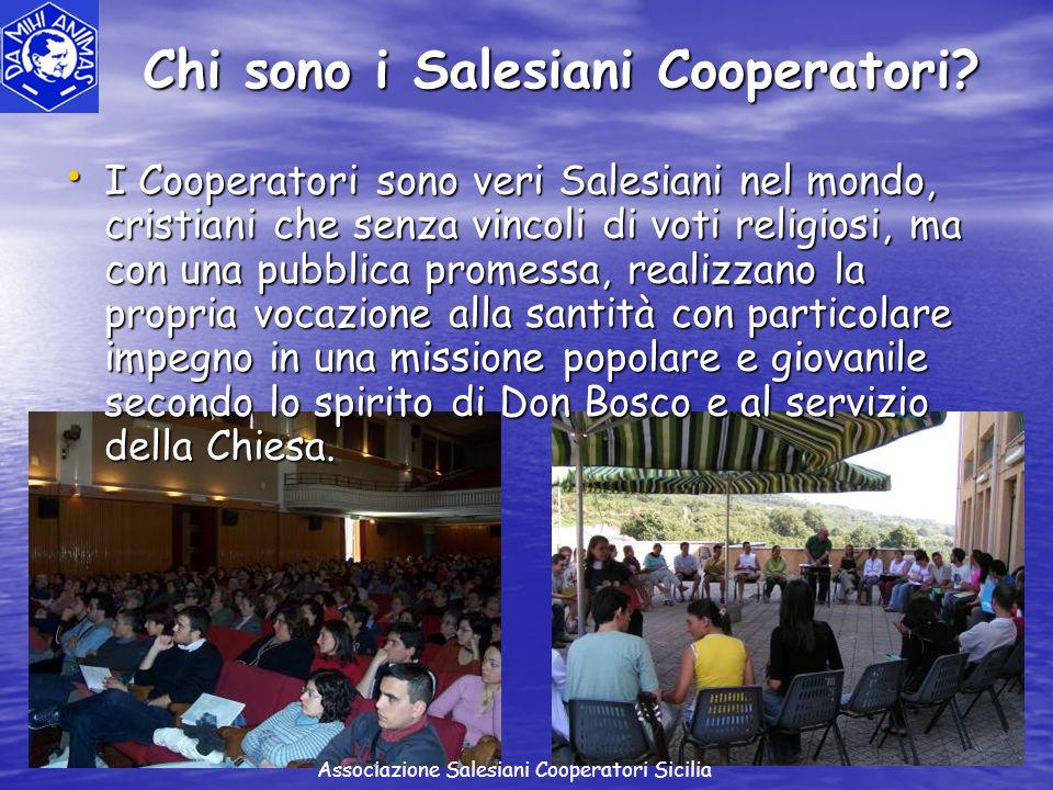 I Cooperatori sono veri Salesiani nel mondo, cristiani che senza vincoli di voti religiosi, ma con una pubblica promessa, realizzano la propria vocazi