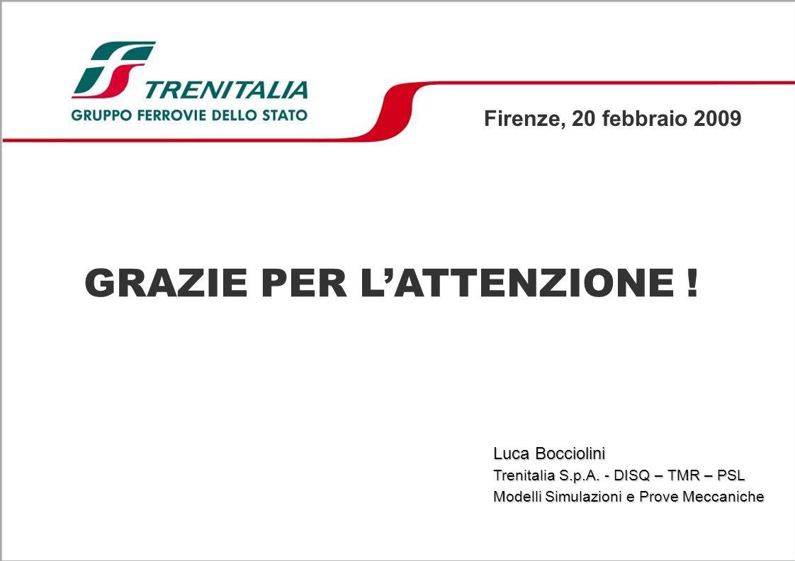 GRAZIE PER LATTENZIONE .Firenze, 20 febbraio 2009 Luca Bocciolini Trenitalia S.p.A.