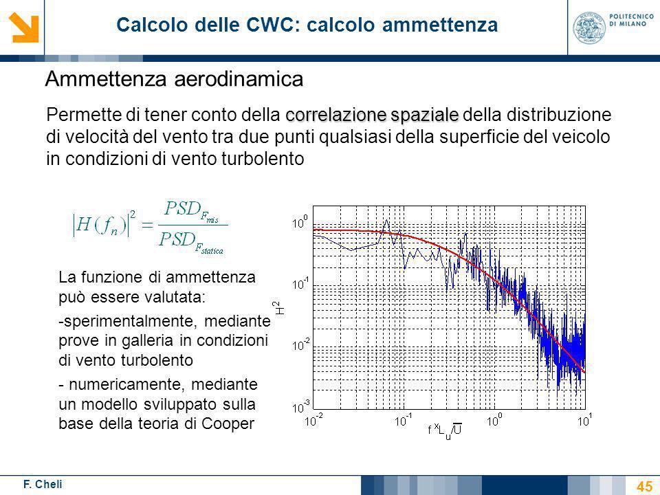 F. Cheli correlazione spaziale Permette di tener conto della correlazione spaziale della distribuzione di velocità del vento tra due punti qualsiasi d