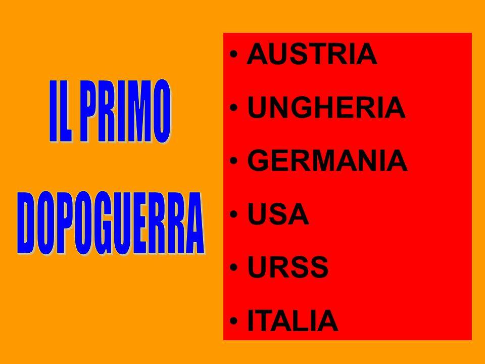 AUSTRIA UNGHERIA GERMANIA USA URSS ITALIA
