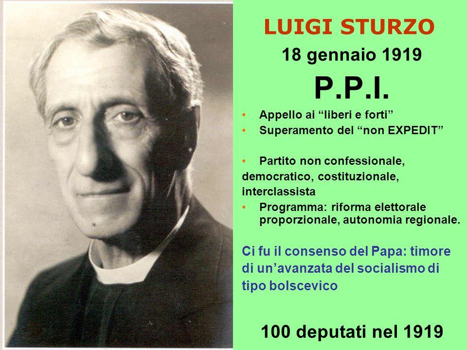 LUIGI STURZO 18 gennaio 1919 P.P.I.
