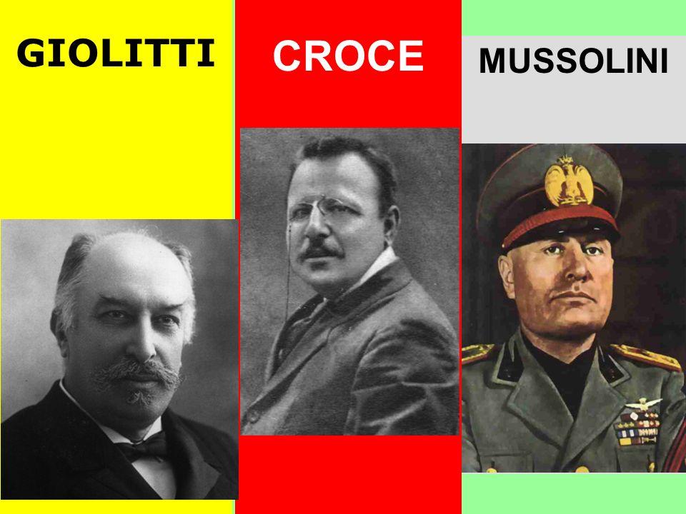 GIOLITTI I Fascisti sono fuochi dartificio: fanno molto rumore, ma si spegneranno rapidamente CROCE Il Fascismo è una benefica cura per lItalia.