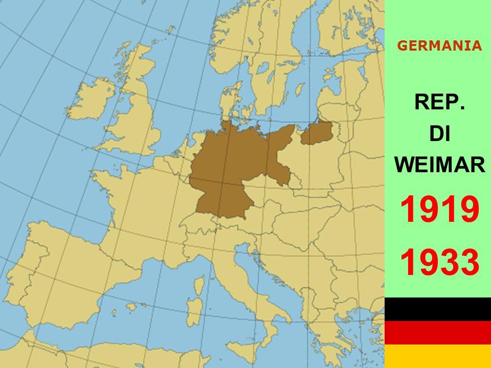 GERMANIA REP. DI WEIMAR 1919 1933