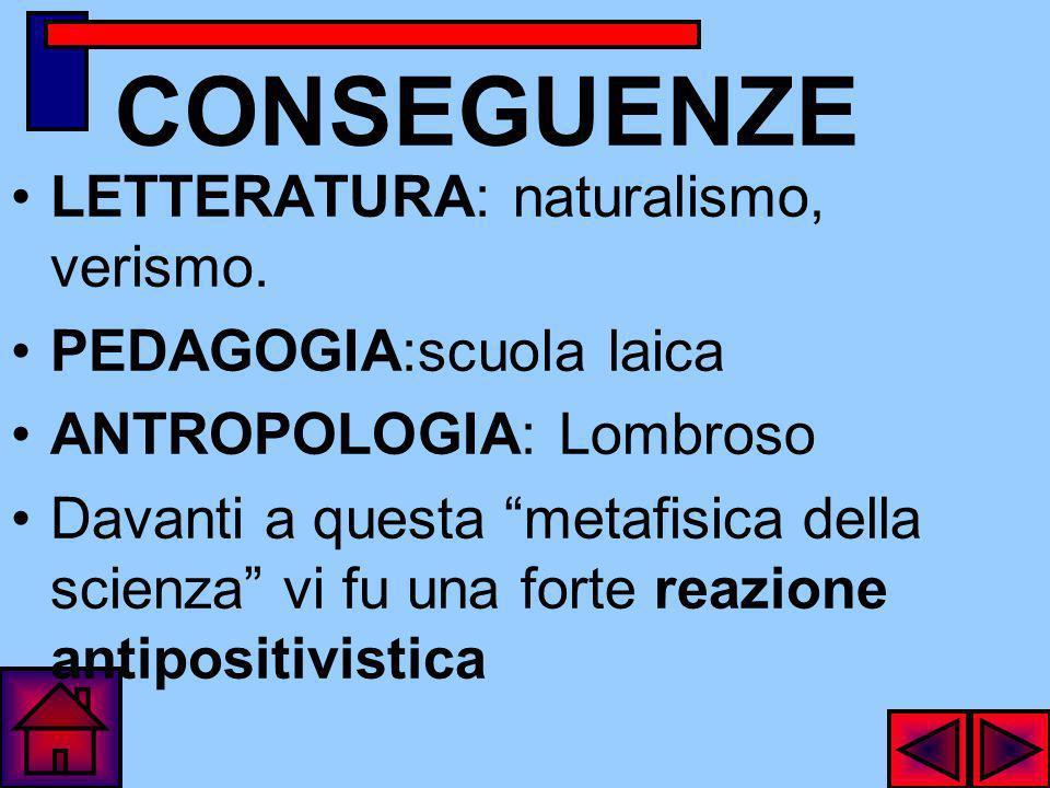 IN SINTESI IL POSITIVISMO E MONISMO EVOLUZIONISTICO RELATIVISMO CRITICO EMPIRISMO GNOSEOLOGICO AGNOSTICISMO RELIGIOSO