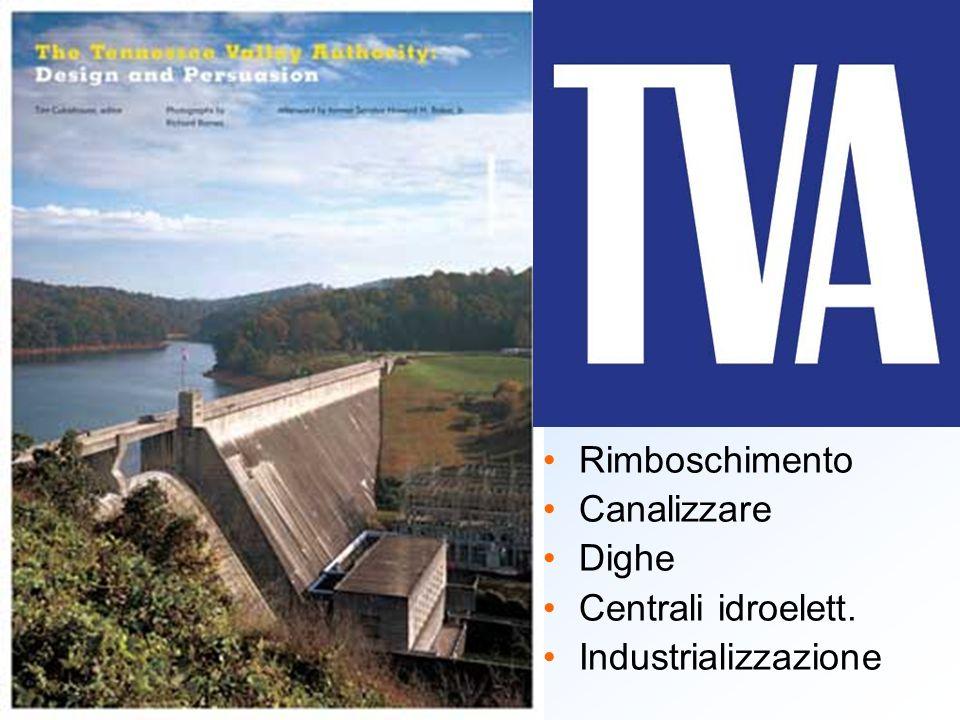 Rimboschimento Canalizzare Dighe Centrali idroelett. Industrializzazione