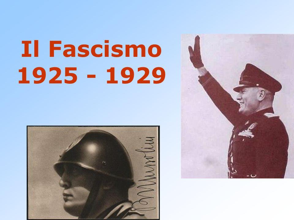 PATTO DI PALAZZO VIDONI 1925 I sindacati non fascisti esautorati Le vertenze erano risolte da Confindustria e sindacati fascisti