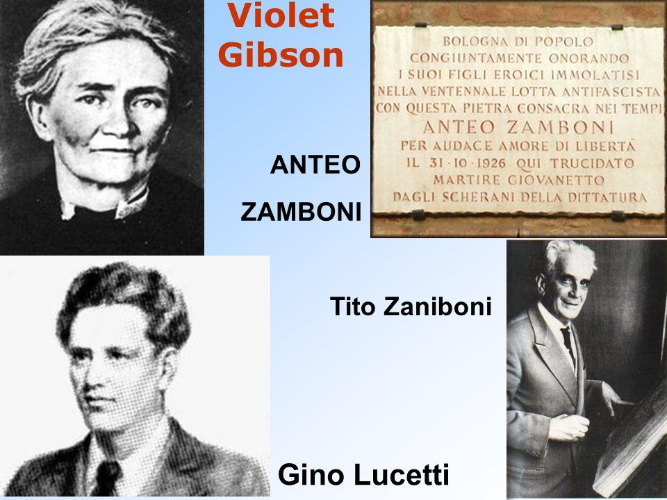 Violet Gibson Gino Lucetti ANTEO ZAMBONI Tito Zaniboni