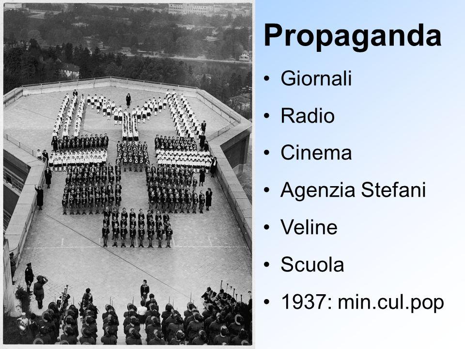 Propaganda Giornali Radio Cinema Agenzia Stefani Veline Scuola 1937: min.cul.pop