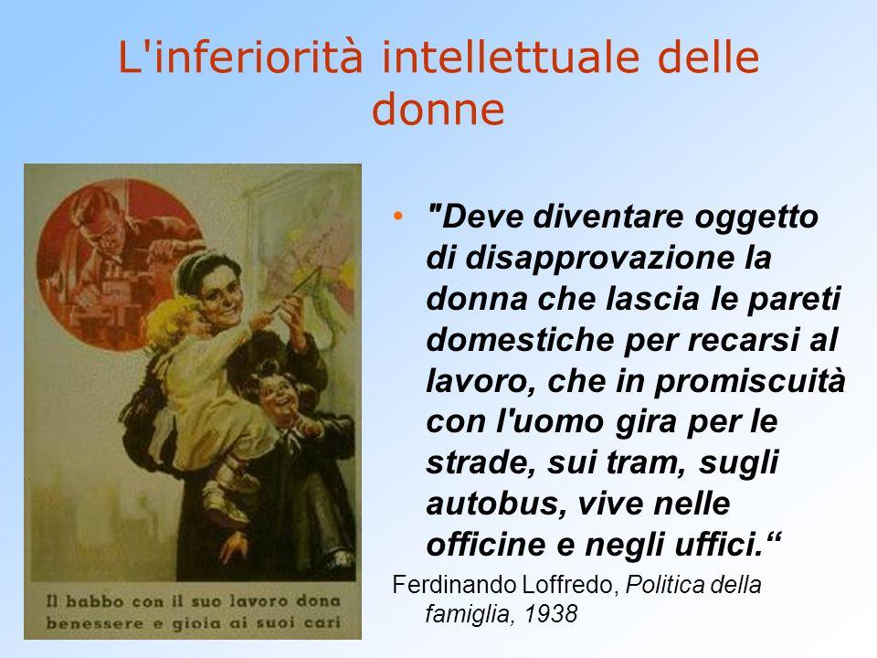 L'inferiorità intellettuale delle donne