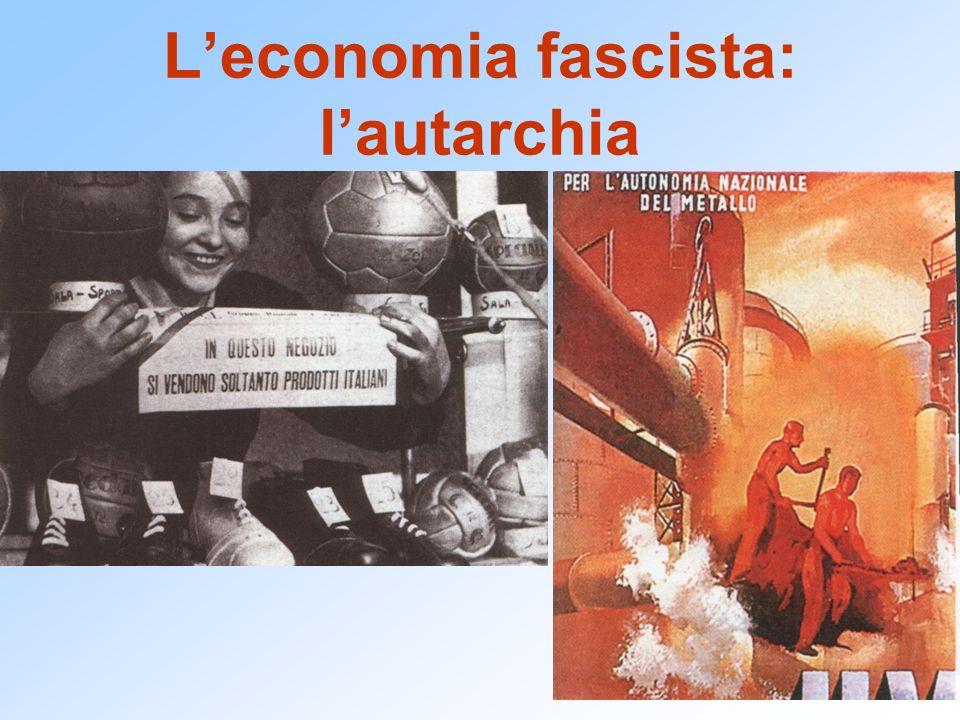 Leconomia fascista: lautarchia