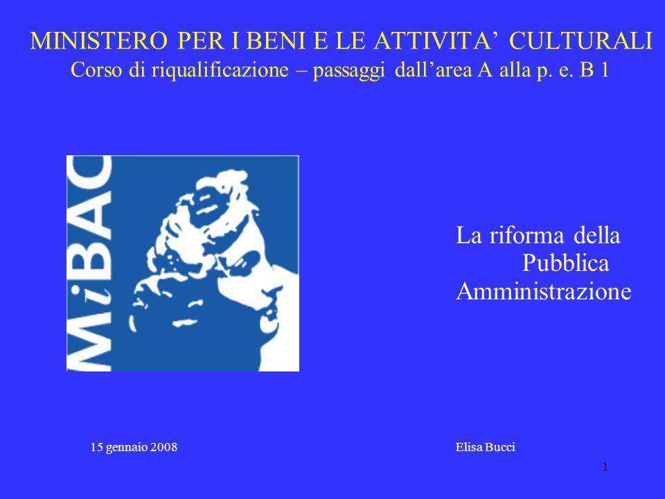 31 Riforma dei Ministeri – L.59/1997 capo II – art.