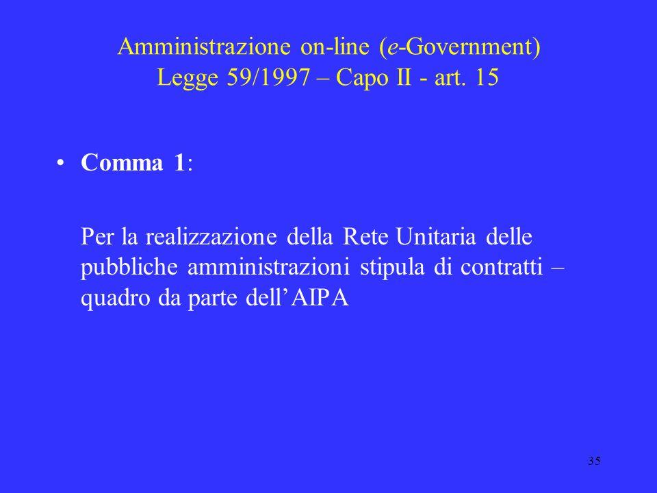 34 Completamento riforma del lavoro pubblico L. 59/1997 capo II – art. 11 comma 4 Delega al Governo per ladeguamento delle disposizioni contenute nel