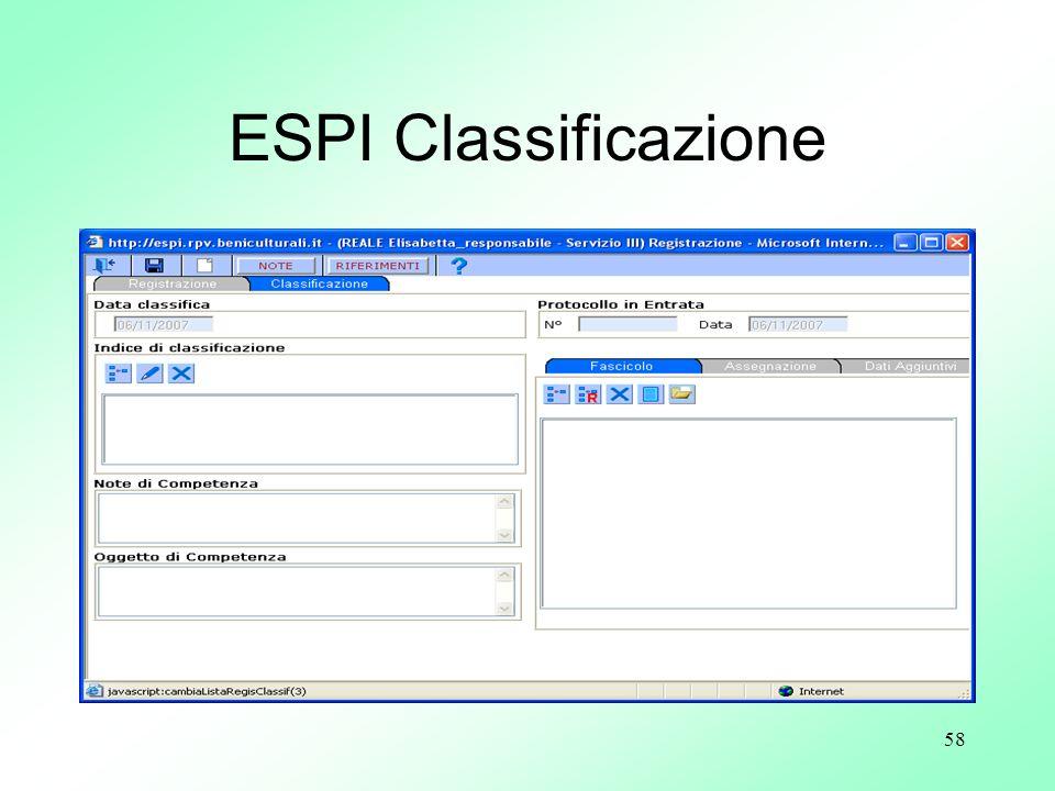 58 ESPI Classificazione