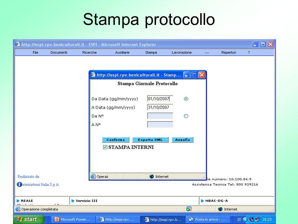 71 Stampa protocollo