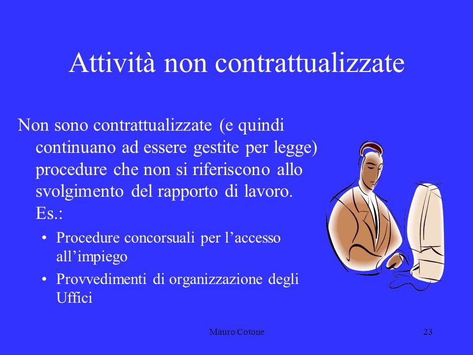 Mauro Cotone22 I Contratti Collettivi Nazionali di Lavoro 1994/1997 1998/2001 2002/2005 2006/2009