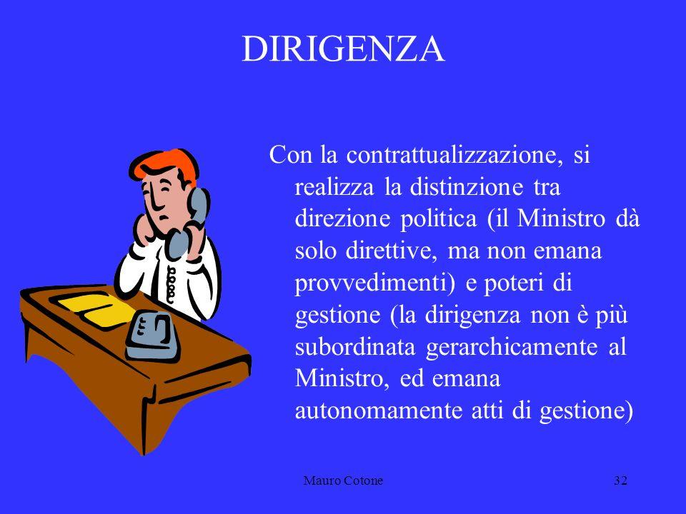 Mauro Cotone31 2 LA DIRIGENZA