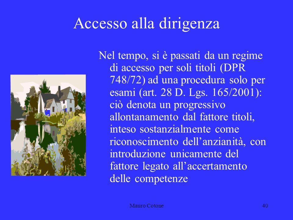 Mauro Cotone39 DIRIGENZA Responsabilità del dirigente Art.