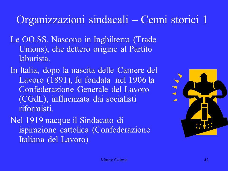Mauro Cotone41 3 LE RELAZIONI SINDACALI