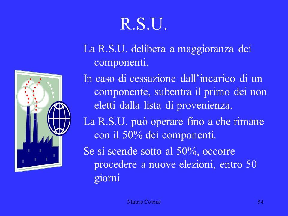 Mauro Cotone53 R.S.U.