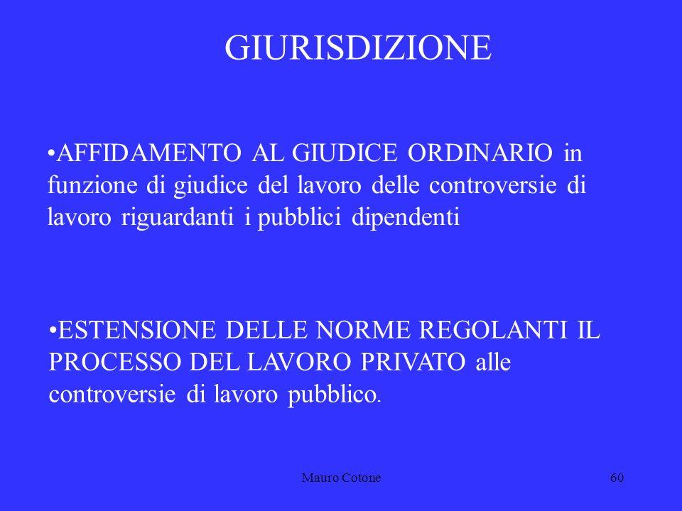 Mauro Cotone59 4 LA GIURISDIZIONE