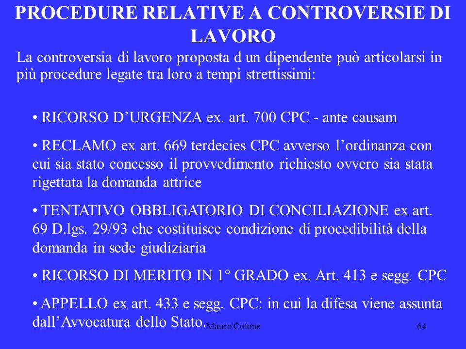 Mauro Cotone63 GIUDICE COMPETENTE Giudice competente per territorio, ai sensi dellart.