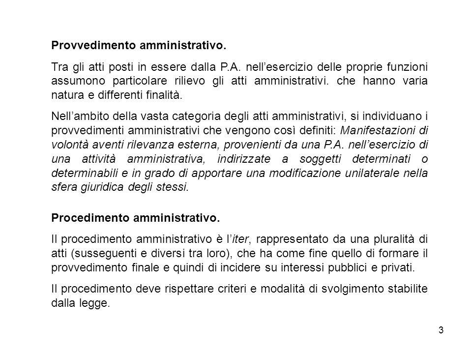 14 Utilizzo di strumenti di diritto privato: per determinati tipi di atti e quando non agisce come Autorità, la P.A.