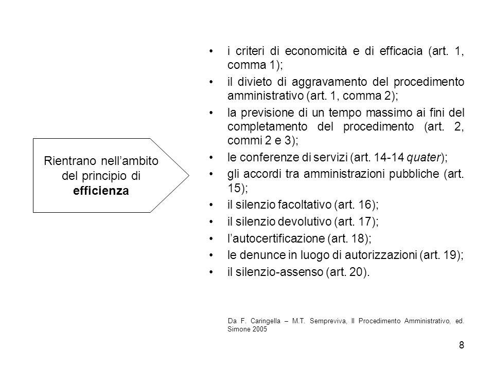 29 Anche la legge 241/1990 prevede quanto disposto dallarticolo 43 del Testo unico in materia di acquisizione dei documenti.