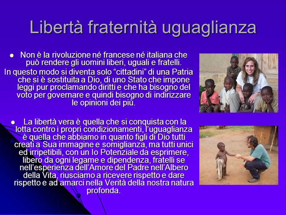 Libertà fraternità uguaglianza Non è la rivoluzione né francese né italiana che può rendere gli uomini liberi, uguali e fratelli. Non è la rivoluzione