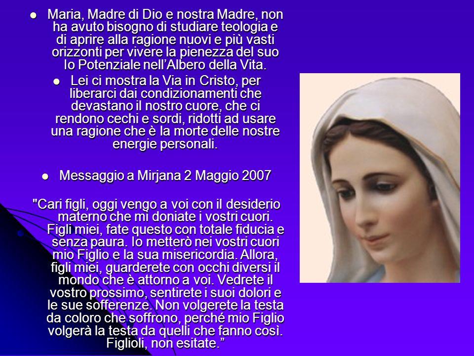 Maria, Madre di Dio e nostra Madre, non ha avuto bisogno di studiare teologia e di aprire alla ragione nuovi e più vasti orizzonti per vivere la piene