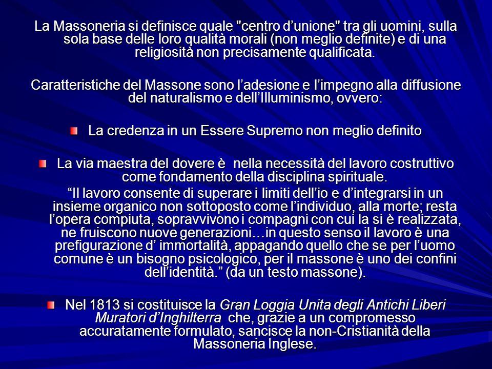 La Massoneria si definisce quale