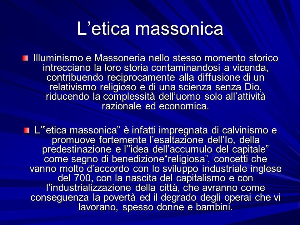 Letica massonica Illuminismo e Massoneria nello stesso momento storico intrecciano la loro storia contaminandosi a vicenda, contribuendo reciprocament