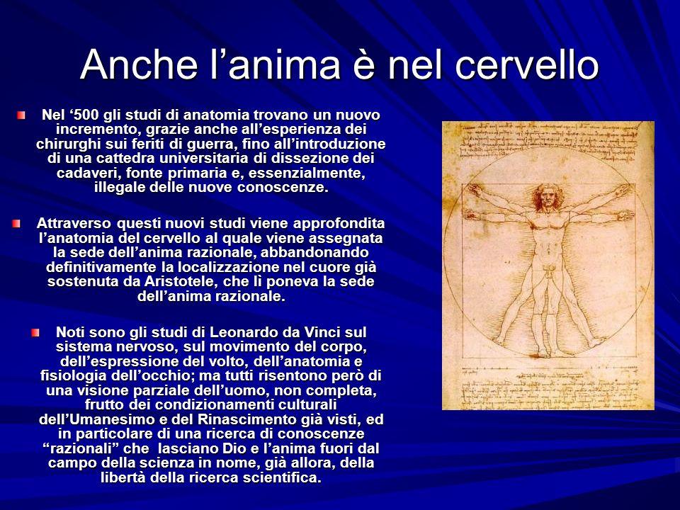 Cartesio: Cogito, ergo sum Per Cartesio (1596-1650) il corpo umano, la res extensa, è come una macchina, un meccanismo complesso in cui le funzioni sono il risultato di un moto coordinato di singoli ingranaggi.