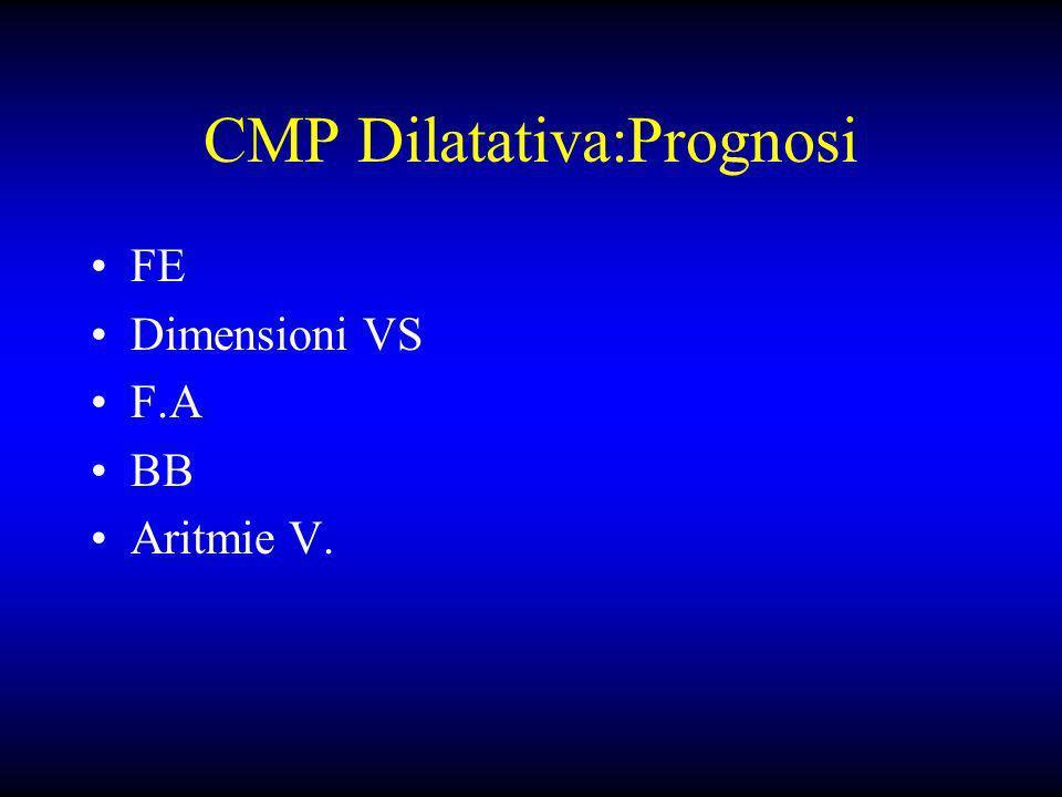 CMP Dilatativa:Prognosi FE Dimensioni VS F.A BB Aritmie V.