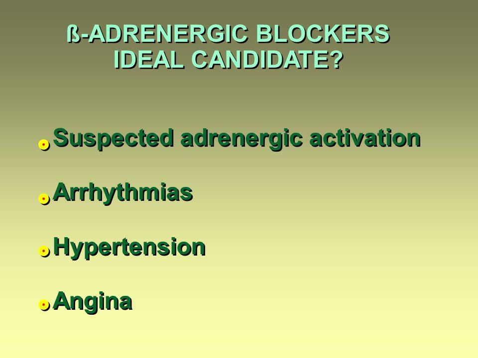 ß-ADRENERGIC BLOCKERS IDEAL CANDIDATE.ß-ADRENERGIC BLOCKERS IDEAL CANDIDATE.