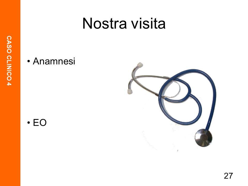 CASO CLINICO 4 27 Nostra visita Anamnesi EO
