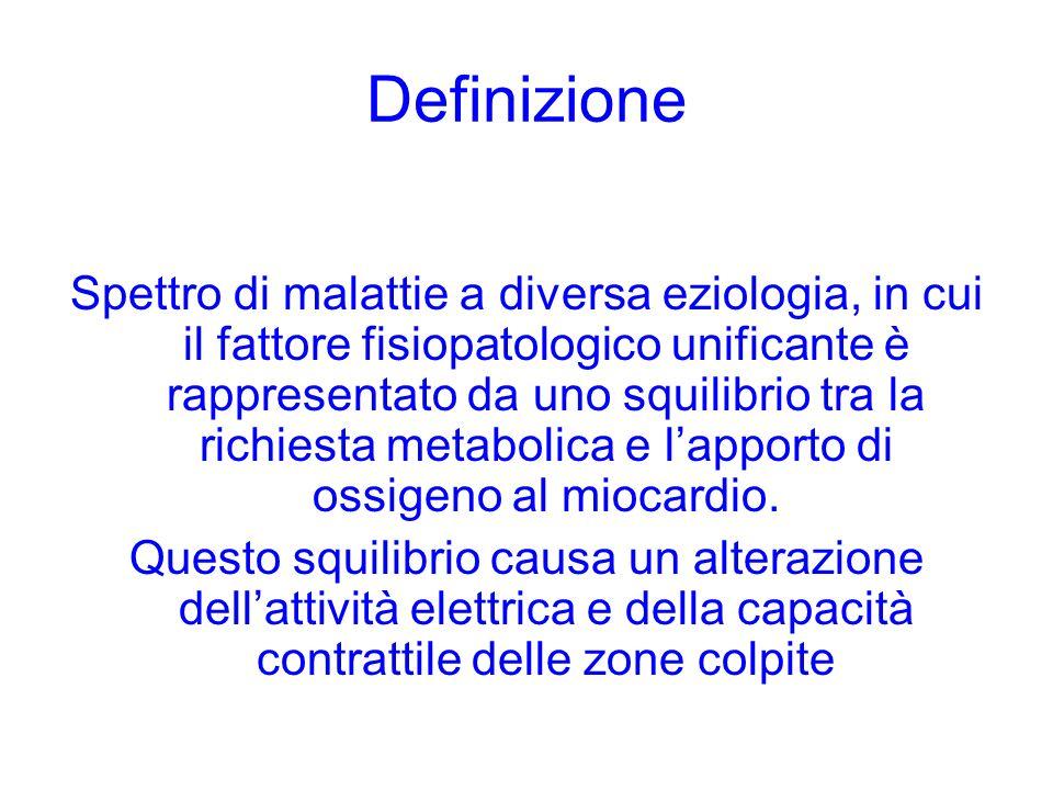Definizione Spettro di malattie a diversa eziologia, in cui il fattore fisiopatologico unificante è rappresentato da uno squilibrio tra la richiesta m