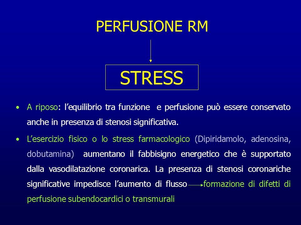 A riposo: lequilibrio tra funzione e perfusione può essere conservato anche in presenza di stenosi significativa. Lesercizio fisico o lo stress farmac
