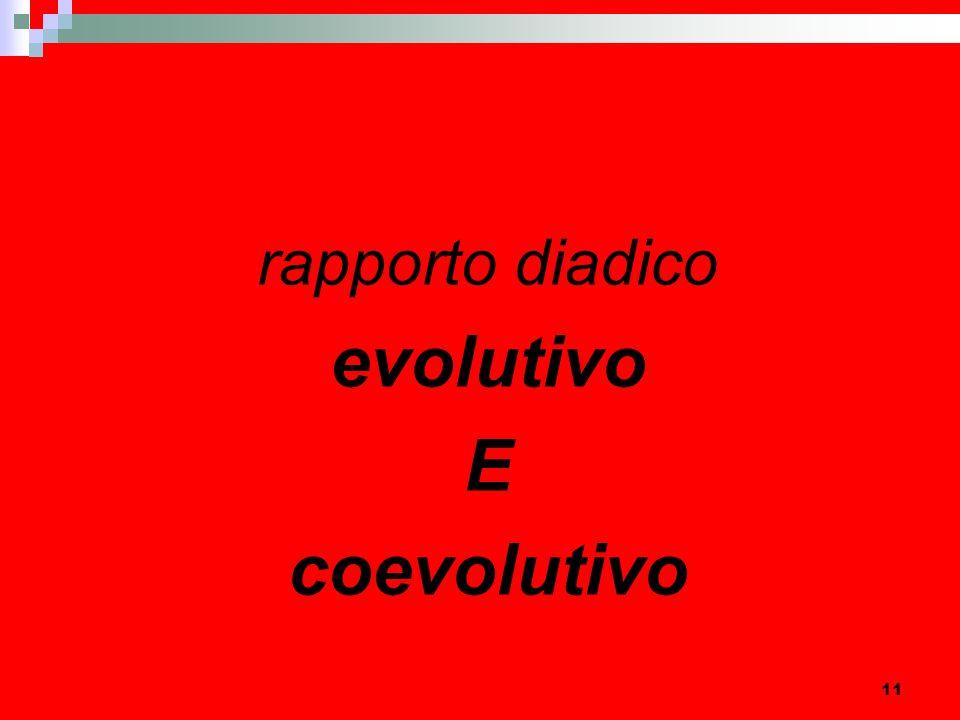 11 rapporto diadico evolutivo E coevolutivo