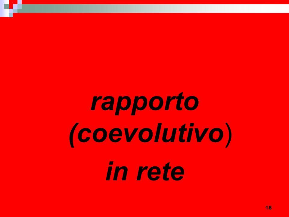 18 rapporto (coevolutivo) in rete