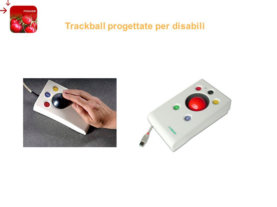 LA TRACKBALL: UN MOUSE CHE STA FERMO E GIA UN PICCOLO AIUTO PRIMO TENTATIVO DI MIGLIORAMENTO Trackball commerciali