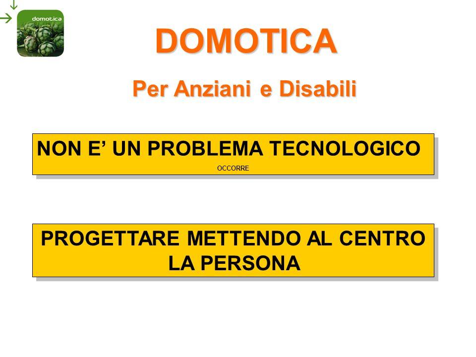 DOMOTICA significa PERSONALIZZAZIONE TECNOLOGIE MODULARI E FLESSIBILI SICUREZZA DELLA PERSONA RISPARMIO ENERGETICO