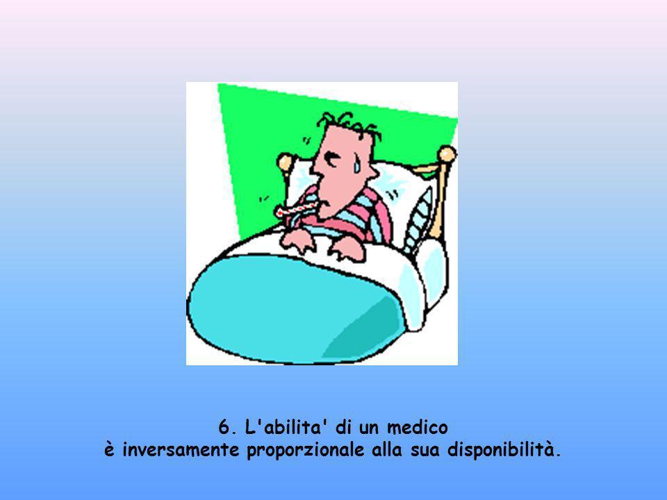 6. L abilita di un medico è inversamente proporzionale alla sua disponibilità.