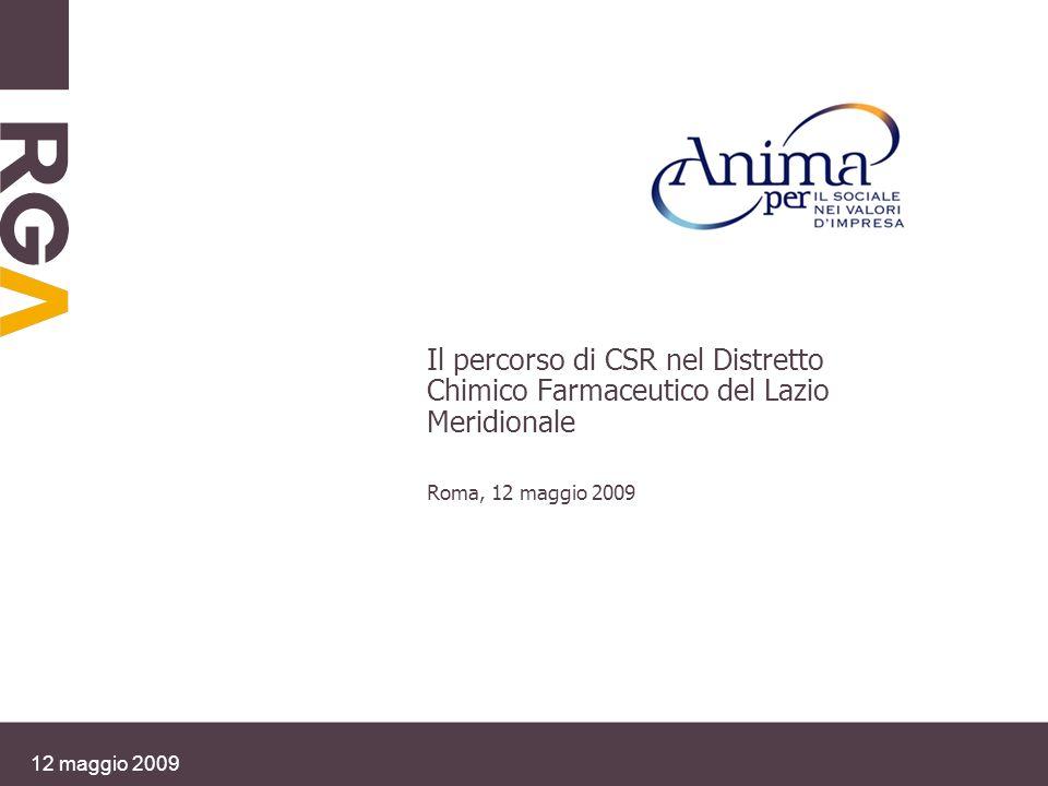 Il percorso di CSR nel Distretto Chimico Farmaceutico del Lazio Meridionale Roma, 12 maggio 2009 12 maggio 2009