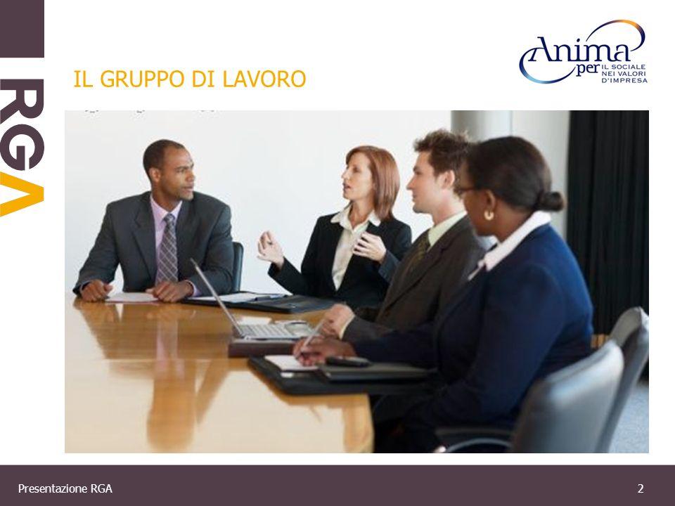 Presentazione RGA2 IL GRUPPO DI LAVORO