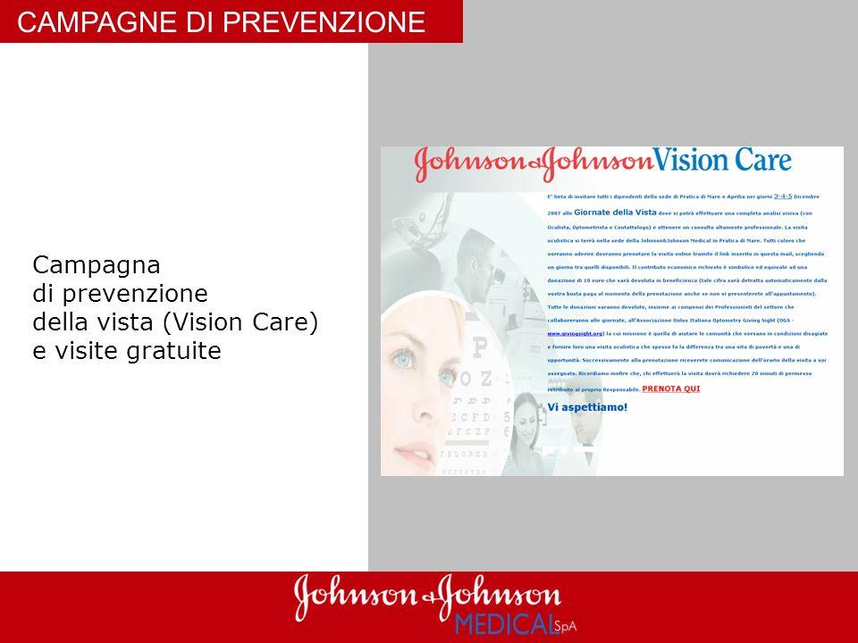 CAMPAGNE DI PREVENZIONE Campagna di prevenzione della vista (Vision Care) e visite gratuite