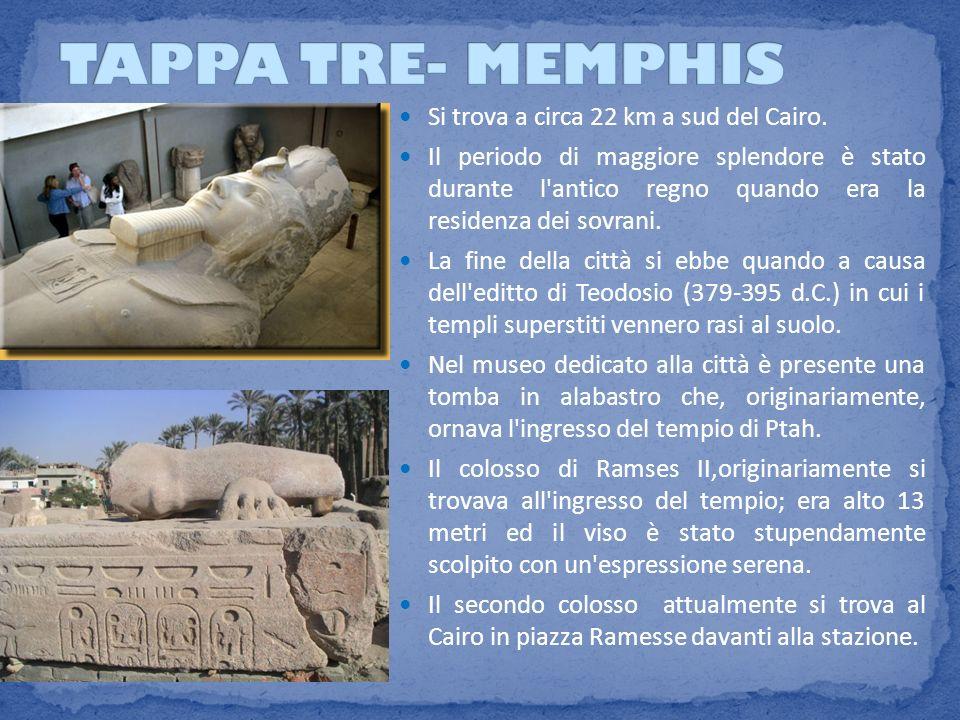 Si trova a circa 22 km a sud del Cairo. Il periodo di maggiore splendore è stato durante l'antico regno quando era la residenza dei sovrani. La fine d
