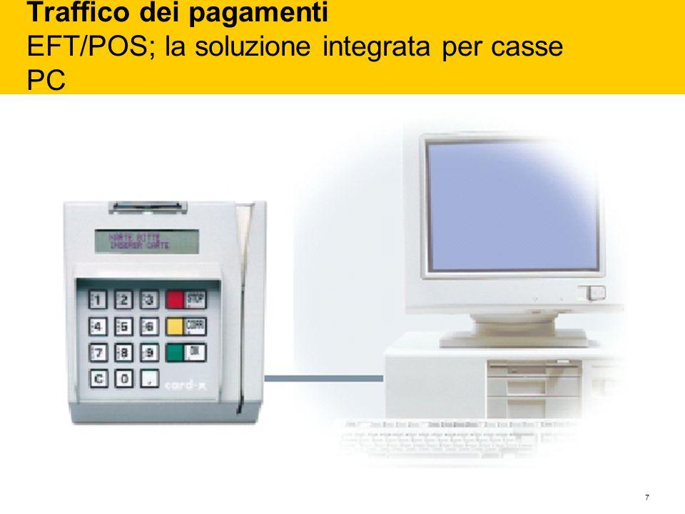 7 Traffico dei pagamenti EFT/POS; la soluzione integrata per casse PC
