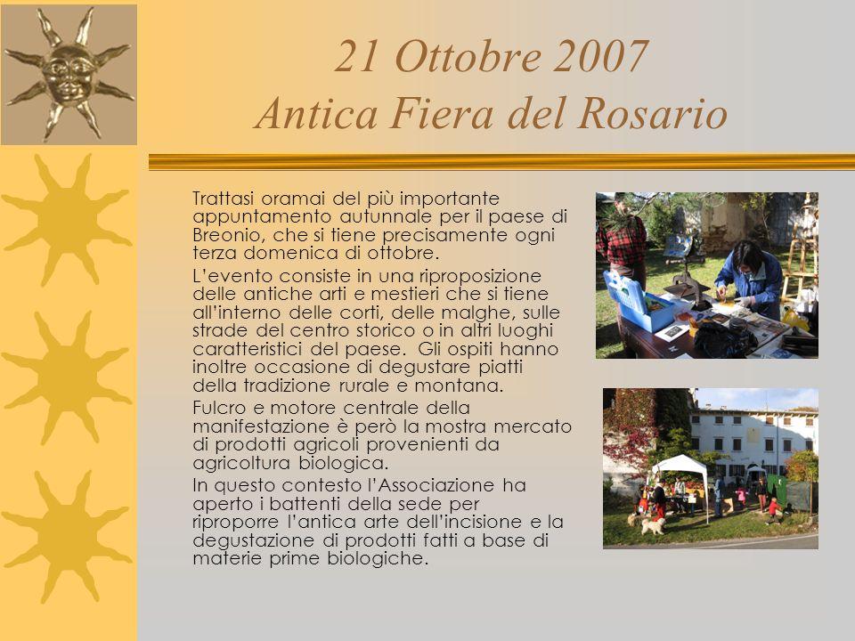 22 Luglio 2007 1^ Festa delle Campane Grande festa per la comunità di Breonio per la collocazione sullantico campanile del paese della nuova campana l