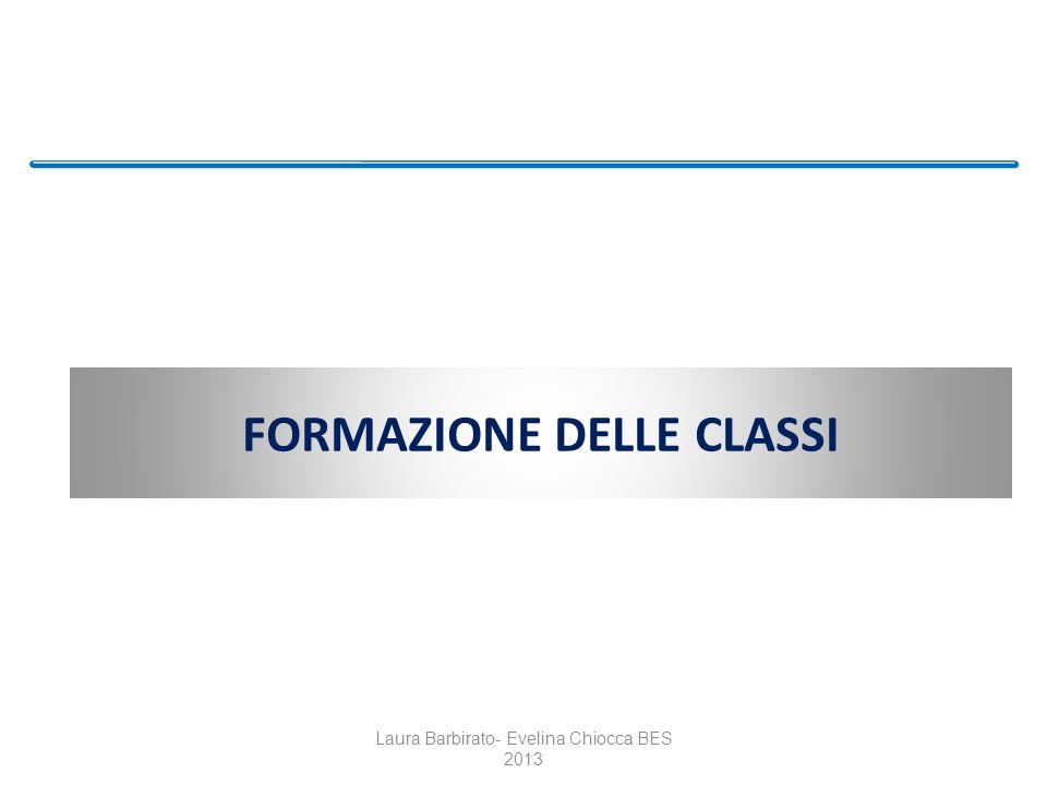 FORMAZIONE DELLE CLASSI Laura Barbirato- Evelina Chiocca BES 2013