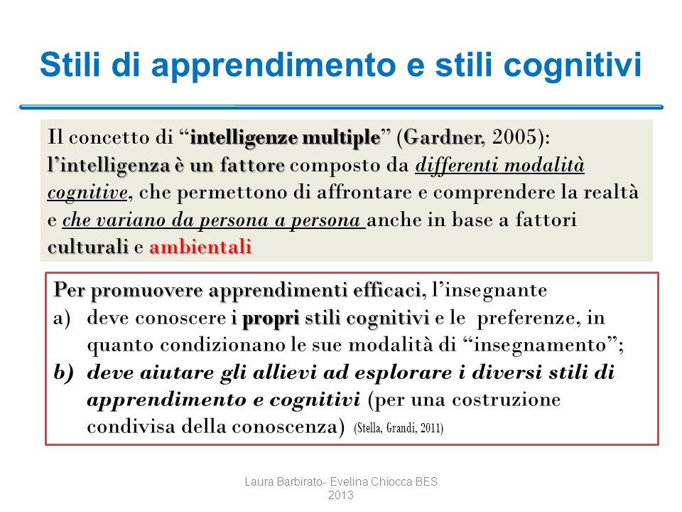 Stili di apprendimento e stili cognitivi intelligenze multipleGardner lintelligenzaè un fattore culturaliambientali Il concetto di intelligenze multip